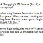 [TRANS] 141122 YoonA Fanaccs Part 2. the rest are pretty repetitive, will post if i see new ones :) http://t.co/MWS3jvbJec