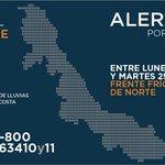 Extreme precauciones. #AlertaGris por evento de #Norte con vientos de + de 100 km/h de martes a miércoles #Veracruz http://t.co/DLKc8bJx9H