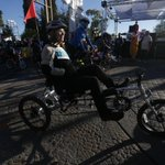 Gabby Giffords as she starts her #TourDeTucson ride. Photo by @wildcatphotog for the Arizona Daily Star http://t.co/2OQ5cXD14v