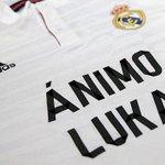 El Real Madrid saltará al campo con esta camiseta http://t.co/p2jdAIJ7VV #AnimoLuka http://t.co/qfF4YKeFD0