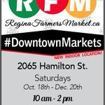 #DowntownMarket is open! Support our fab vendors today, 10 to 2, 2065 Hamilton St. Free parking @SaskPower! #yqr http://t.co/KSvQuizUpP