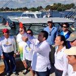 """Mi Gobernador Lic. @BetoBorge dio el Disparo de Salida a Embarcaciones Participantes del Torneo """"El Wahoo de Plata"""" http://t.co/otNh5wGoDt"""