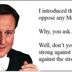 "Dont you know ? ""I am strong against the weak and weak against the strong"" #CameronMustGo http://t.co/M8LD7br7Y4"