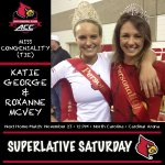 Fierce competitors, balanced with winning personalities, Katie & Roxanne are Miss Congeniality! #L1C4 #UofLVolleyball http://t.co/Y6sgVnP1Q0