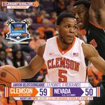 FINAL: Clemson 59, Nevada 50. Tigers now 2-2 on the season. Next up is LSU or Weber State on Monday. http://t.co/FyEqTJ1ei9