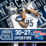 Old Dominion upsets LaTech in OVERTIME! #ODUFB http://t.co/N2Hj05A07P