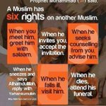 REMINDER A muslim has SIX rights on another muslim http://t.co/u8nYEw8qFi
