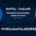 Domenica ore 15.00, stadio San Paolo #NapoliCagliari #ForzaNapoliSempre http://t.co/K0SmQhIPg4