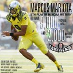 Marcus Mariota has become 5th player in #FBS history to go 9,000/2,000 in a career #GoDucks #CUvsUO http://t.co/YM67mkGqU9