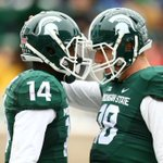 #Spartans: Connor Cook and Tony Lippett celebrate MSUs first touchdown. #MSURU http://t.co/BVJk1REG4K http://t.co/L0LuO3N0Ua