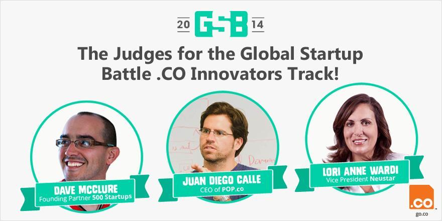 Meet the judges of the .CO Innovators Track #GSB2014 @juandiegocalle @davemcclure @domaindiva http://t.co/lmIEiYQIDV http://t.co/b2VAskaCTx