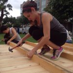 Volunteers in #Miami building a #TECHO house to be exhibited during #ArtBasel week! http://t.co/5khUQqfl6A