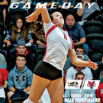 .@Maristvb vies for 1st #MAACvb title at 2 p.m. The match will be on @ESPN3 in the Cabaret. http://t.co/sCOOBTxKLM http://t.co/aE42GYJtdU
