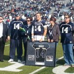 Huge ovation for Taylor Heinicke, ODUs record-setting quarterback. http://t.co/VF72gVpHym