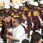 ASU QB Taylor Kelly gets emotional as he greets ASU HC Todd Graham for senior day before #WSUvsASU. http://t.co/BXDsENCdTj