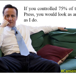 Tories control 75% of UK Press. But they dont control Twitter. Not yet. This is ur place for ur voice #CameronMustGo http://t.co/0xKsHgCaiX