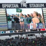 We are the Champions playing at Spartan Stadium! @MSUTrackFieldXC http://t.co/lf3ILCw3BW