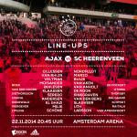 Line-ups! Go #Ajax! #wijzijnajax #ajahee