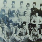pic of my father with quaide azam ...my father is seated extreme left .. http://t.co/9H697kS6hM