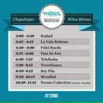 Van los horarios de los 4 escenarios en Av. Chapultepec - #RMX212 - RT http://t.co/ZU3EXNATcH