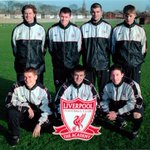 Liverpool Academy graduates McManaman, Carragher, Matteo, Gerrard, Owen, Thompson and Fowler, 1998. http://t.co/ErOBgvYGZs