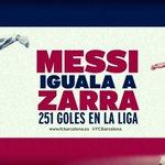Leo Messi iguala a Telmo Zarra como el máximo goleador de la historia de la Liga  #FCBlive http://t.co/1ZlkprVWhr