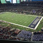 When someone asks whats so special about Texas HS football, show them this. Allen-DeSoto. Second round game. #txhsfb http://t.co/p69V3eX2SH