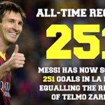 #Messi y su record...!!! #FCBarcelona http://t.co/OFAWqZMtWG