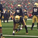 The redshirt is off for #NotreDame DL Jay Hayes. Brian Kelly said they hope to get him around 100 snaps this year. http://t.co/6EC9wrSyi0