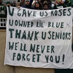 #MichiganState students say good-bye to the Senior Class. MSU 45-3 http://t.co/0ah0IVIBsj