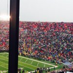 Lots of Louisville fans at ND. http://t.co/MCGY1yaKpn