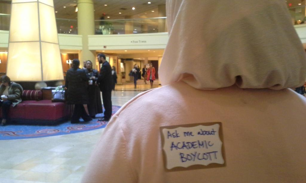 Students supporting academic boycott of #Israel at #mesa2014dc! #palestine http://t.co/1Zz3ge39j5