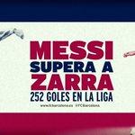 Leo Messi supera a Telmo Zarra y se convierte en el máximo goleador de la historia de la Liga #FCBlive http://t.co/d4IdpaCwGa