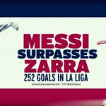 Messi surpasses Zarra! http://t.co/PpAUyX0DU6