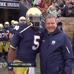 Stop the mad talk! Golson is and should be our QB #GoIrish @NDonNBC: Everett Golson with @CoachBrianKelly #SeniorDay http://t.co/LCIOn4l6iI