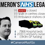 We love our NHS. It is not unreasonable to say Cameron is not the person we trust most to protect it #CameronMustGo http://t.co/7SmC4HGAIt