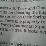 White roses from @ydrcom to Chas & Terry Smith of Glen Rock for donating the #iloveyorkcity Christmas tree. #yorkpa http://t.co/nXzTBHyPoY