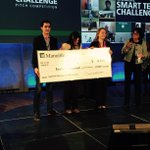 Big congratulations to the #stchallenge  Datify team. $12,000 cheque, MacBooks and a work term @ManulifeREDLab http://t.co/E2EWen47BH