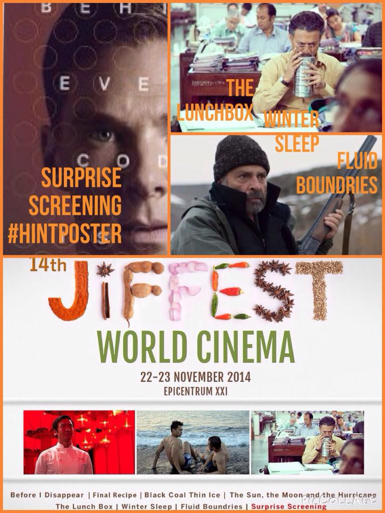 Jangan lewatkan World Cinema #JiFFest14 hari ini dgn 3 film pilihan plus surprise screening di @cinema21 Epicentrum http://t.co/KlUuqVbrJr
