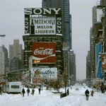 Times Square in the Snow, 1984 - Photo by Frank Horvat | #NYC #NY http://t.co/4CX7zVRwDO