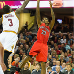 Lou Williams has 30pts after 3 quarters as the @Raptors lead @Cavs 85-71 heading to the 4th. Tune in on #LeaguePass! http://t.co/ib83FPO6x1
