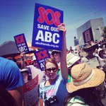 Save our ABC rally at Federation Square #melbourne #ourabc #SaveOurABC @theage http://t.co/5L8exiQ8cr