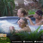 So Kendra said shes on her period in the task yet shes sitting in a hot tub with 3 other people #ImACeleb http://t.co/PT0TTA9NOd