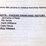 Stat to watch tonight: Roy Hibbert is 4 blocked shots away from passing Dale Davis for 4th place in #Pacers history. http://t.co/fRmezI1ETA