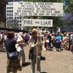 Fire the liar! Rally 12.30 today at Fed Square Melbourne against #cuts to #OurABC #insiders #lies #spin #auspol http://t.co/RrH23EALRs