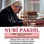 Takvimlere inat her zaman 18 yaşında bir devrimci, Nuri Pakdil Kayseride kitaplarını imzalayacak.. #YediGüzelAdam http://t.co/ojocHpAumD