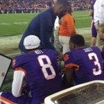 He never stops being a leader... @TajhB10 encouraging young Tigers on the sidelines: http://t.co/iIxwJquYyf