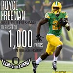 10 career college games, 16 TDs, 1,000 yards. Royce Freeman. #GoDucks #CUvsUO http://t.co/Hv71lSlORM