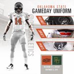 Tonight's @CowboyFB uniform: Black (Pete) / White / White. #okstate #OSUniTracker http://t.co/3kiMTftA8E