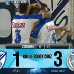Gol de Godoy Cruz: Cosaro 6 ST.: Vélez 1 – Godoy Cruz 3. Miralo en vivo por http://t.co/m2u06alA9s http://t.co/mLb4mNJiHT